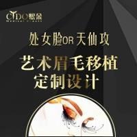 天津艺术眉毛移植定制设计 处女脸OR天仙攻 加密种植 无痕植眉